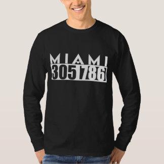 MIAMI Florida 305 & 786 AREA Code Tee