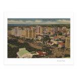 Miami, Florida - Aerial View of Downtown Postcard