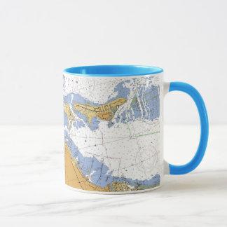 Miami, Florida Biscayne Bay Nautical Chart Mug