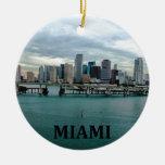 Miami Florida Christmas Ornament