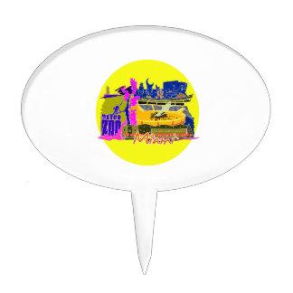 miami florida city invert 2 watercolour  travel.pn cake topper