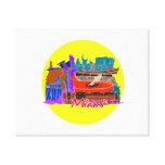 miami florida city invert watercolour  travel.png stretched canvas print
