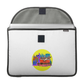 miami florida city invert watercolour  travel.png sleeve for MacBooks