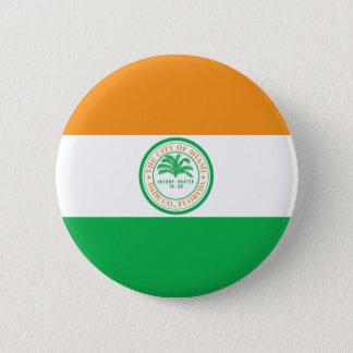 Miami Florida City, United States flag Pinback Button