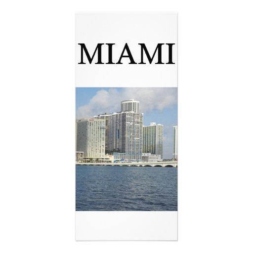 MIAMI florida Customized Rack Card