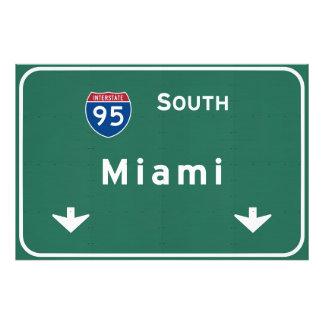Miami Florida fl Interstate Highway Freeway : Photo Print