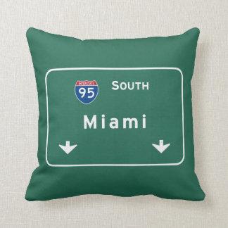 Miami Florida fl Interstate Highway Freeway : Pillow