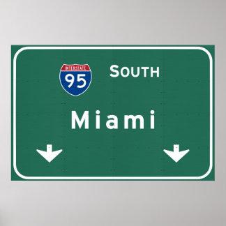 Miami Florida fl Interstate Highway Freeway : Poster