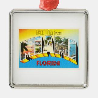 Miami Florida FL Old Vintage Travel Souvenir Metal Ornament