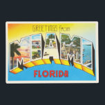 "Miami Florida FL Old Vintage Travel Souvenir Placemat<br><div class=""desc"">Miami,  Florida FL