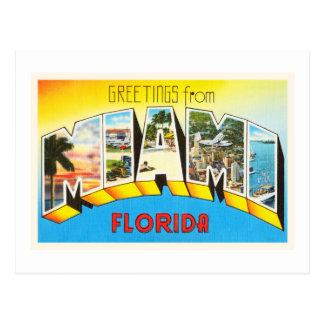 Miami Florida FL Old Vintage Travel Souvenir Postcard