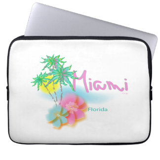 Miami, Florida, Palms, Graphic, Cool Computer Sleeve