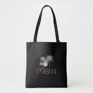 Miami, Florida, Palms, Grey, Cool Tote Bag