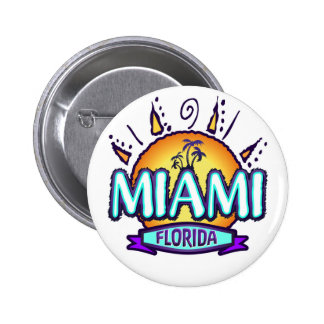 Miami, Florida Pinback Button