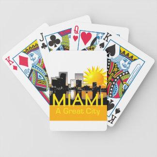 MIAMI Florida Bicycle Playing Cards
