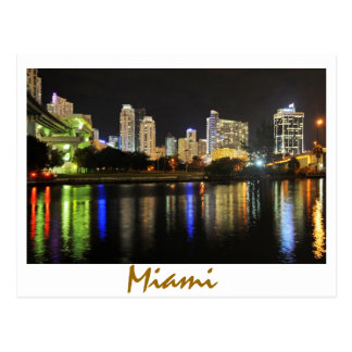 Miami, Florida, reflections on the River Postcard