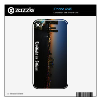 Miami florida skin for iPhone 4S
