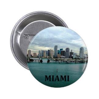 Miami Florida Skyline 2 Inch Round Button