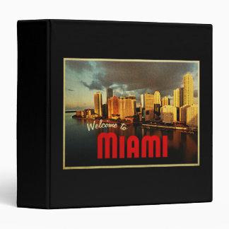 Miami Florida Skyline 3 Ring Binder