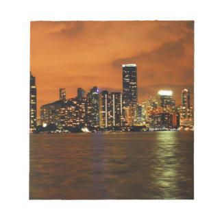 Miami, Florida skyline at night Notepad