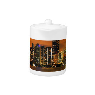 Miami, Florida skyline at night Teapot