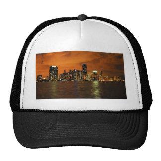 Miami, Florida skyline at night Trucker Hat