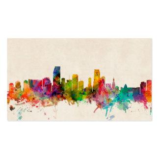 Miami Florida Skyline Cityscape Business Card