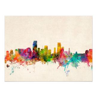 Miami Florida Skyline Cityscape Photo Print