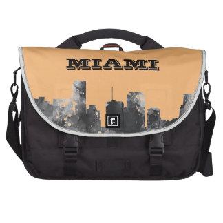 MIAMI FLORIDA SKYLINE - Commuter Laptop Bag