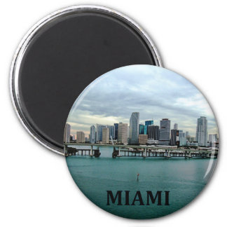 Miami Florida Skyline Refrigerator Magnet