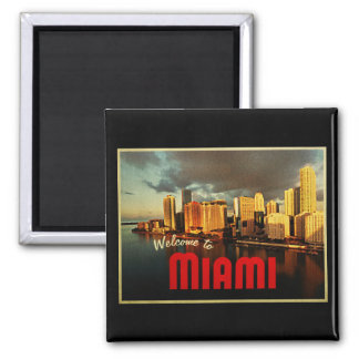 Miami Florida Skyline Fridge Magnet