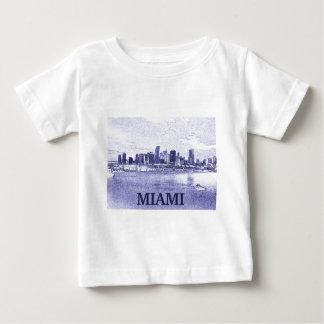 Miami, Florida Skyline Pencil Drawing Baby T-Shirt
