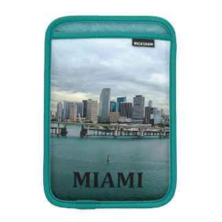 Miami Florida Skyline Photo Landscape iPad Mini Sleeve