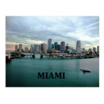 Miami Florida Skyline Postcards