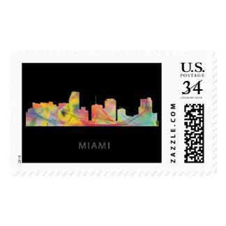 MIAMI FLORIDA SKYLINE WB1 STAMP