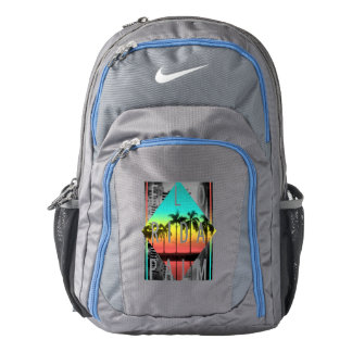 Miami Florida, Sunset Palm Trees, Nike Backpack