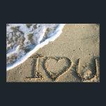 "Miami, Florida, USA. I love you Canvas Print<br><div class=""desc"">Miami,  Florida,  USA. I love you written in the sand. | Julien McRoberts / DanitaDelimont.com</div>"