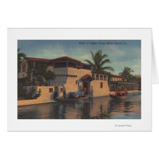 Miami, Florida - View of House on Collins Canal Card