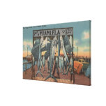 Miami, Florida - View of Pier 5 with Caught Fish Canvas Prints