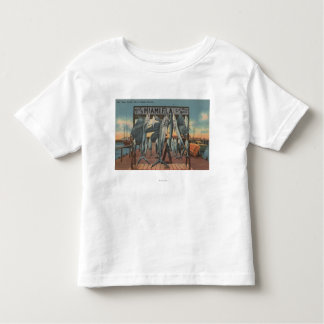 Miami, Florida - View of Pier 5 with Caught Fish Toddler T-shirt