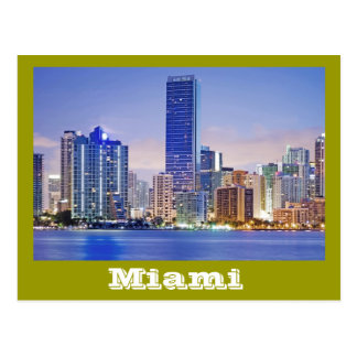 Miami, Florida's international city by the bay. Postcard