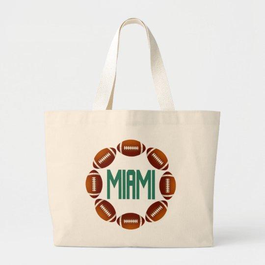 MIAMI FOOTBALL CIRCLE LARGE TOTE BAG