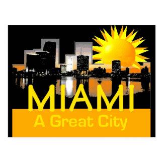 MIAMI Great City Postcard