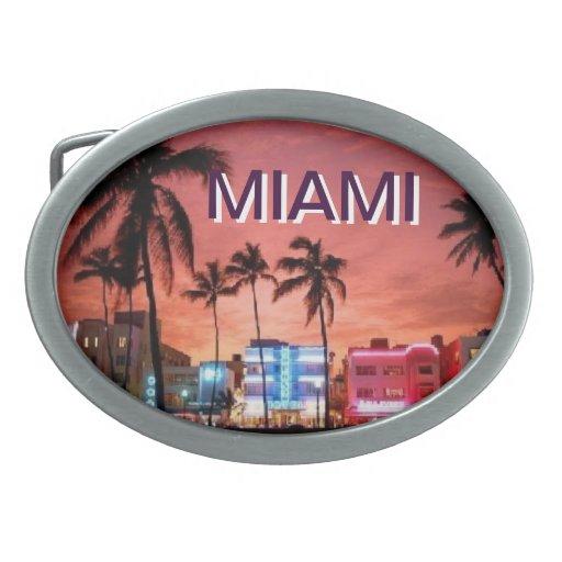 Miami Hebilla De Cinturón Oval