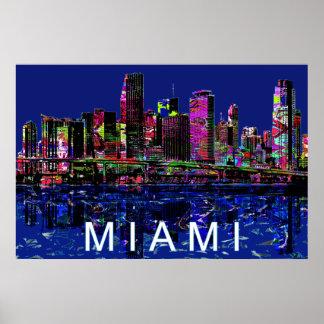 Miami in graffiti poster