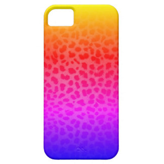 Miami Inspired Rainbow Leopard Print iPhone Case iPhone 5 Cover