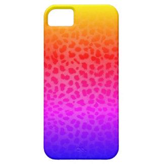 Miami Inspired Rainbow Leopard Print iPhone Case