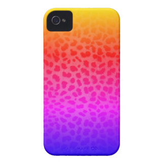 Miami Inspired Rainbow Leopard Print iPhone Case iPhone 4 Cover
