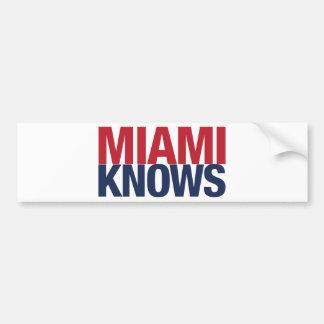 Miami Knows Bumper Sticker