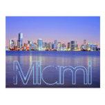 Miami, la ciudad mágica en el amanecer postal